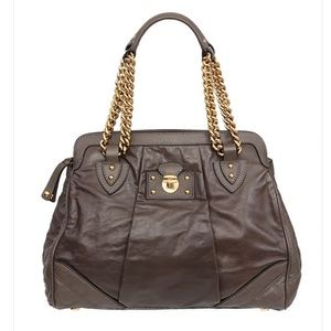 MARC JACOBS Bag Olive Green Gold Chain